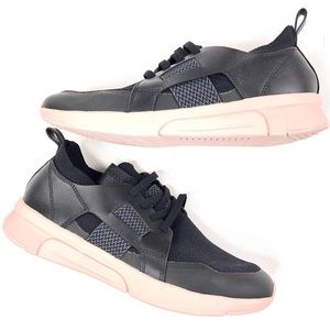 Mark Newson | Black Pink Sole Sneakers